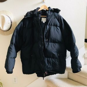 OLD NAVY black down puffer winter coat 2xl jacket